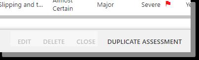 Duplicate Assessment Button