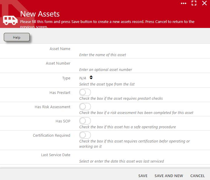 Add an Asset