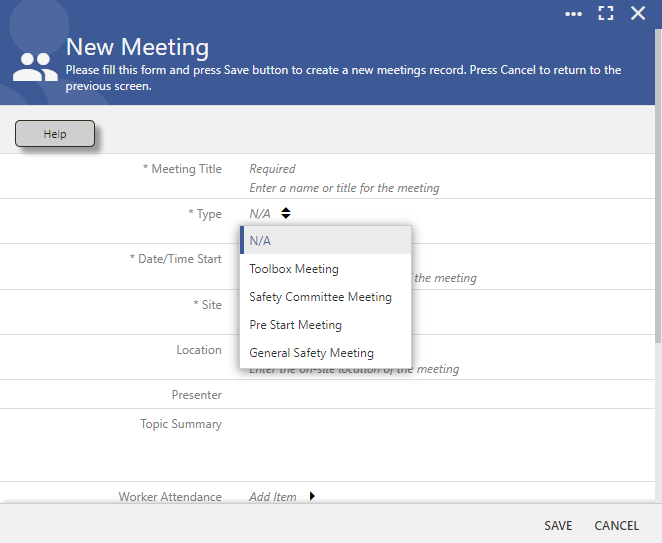 Create a meeting record